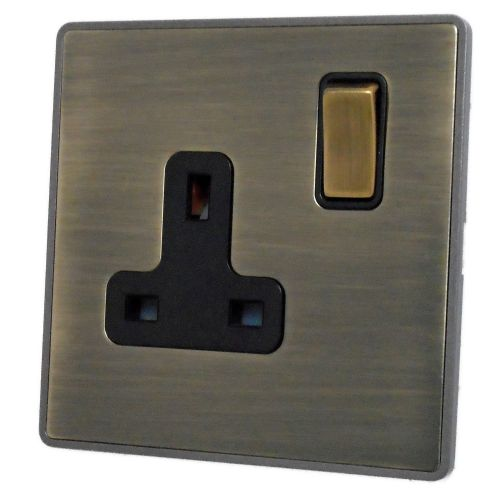 G&H LAB309 Screwless Antique Bronze 1 Gang Single 13A Switched Plug Socket